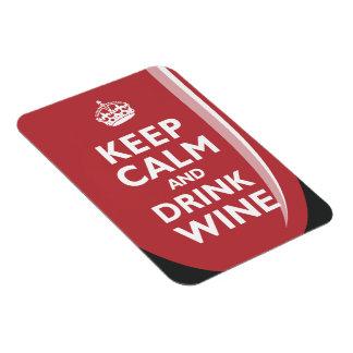 Mantenga vino tranquilo y de la bebida iman de vinilo