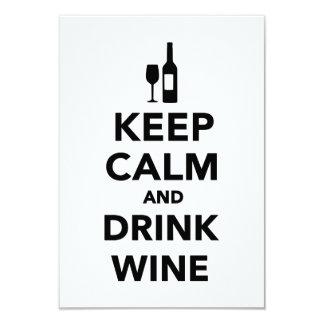 Mantenga vino tranquilo y de la bebida comunicado personalizado