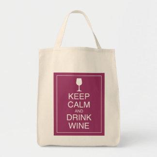 Mantenga vino tranquilo y de la bebida - la bolsa