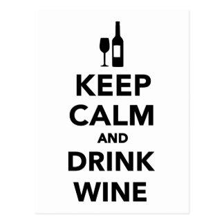 Mantenga vino tranquilo y de la bebida postal