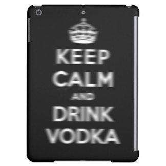 Mantenga vodka tranquila y de la bebida