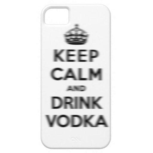 Mantenga vodka tranquila y de la bebida iPhone 5 carcasa