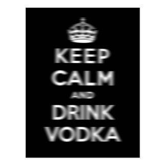 Mantenga vodka tranquila y de la bebida postal
