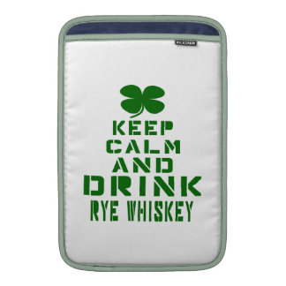 Mantenga whisky tranquilo y de la bebida de Rye Funda MacBook