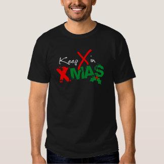 Mantenga X Navidad Playera