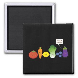 Manténgalo colorido (el diseño simple) imán cuadrado