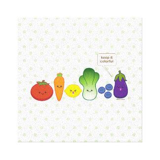 Manténgalo colorido (el diseño simple) impresión en lona
