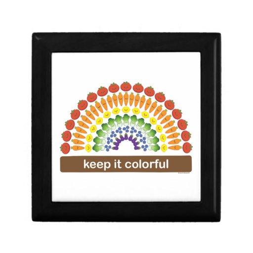 ¡Manténgalo colorido! Joyero Cuadrado Pequeño