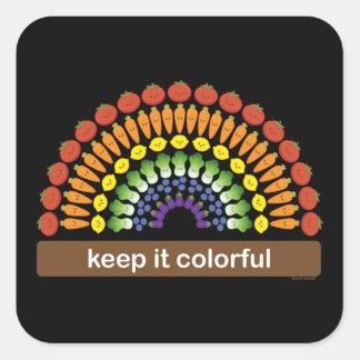¡Manténgalo colorido Calcomanía Cuadrada Personalizada