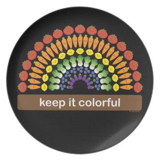 ¡Manténgalo colorido! Plato De Comida