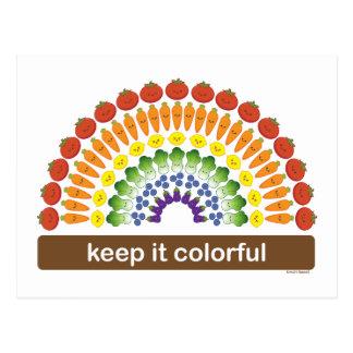 Manténgalo colorido postal
