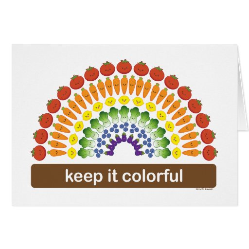 Manténgalo colorido tarjeta