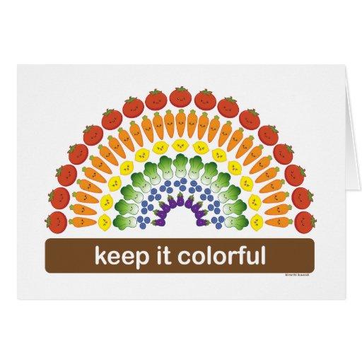 Manténgalo colorido tarjeta de felicitación