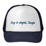 Manténgalo estúpido, simple gorras de camionero