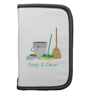 Manténgalo limpio planificadores