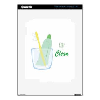 Manténgalo limpio iPad 3 skins