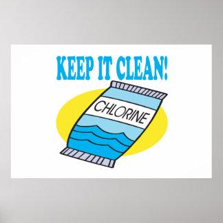 Manténgalo limpio poster