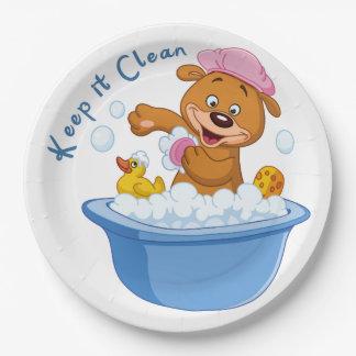 Manténgalo limpio platos de papel
