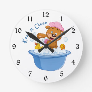Manténgalo limpio reloj redondo mediano