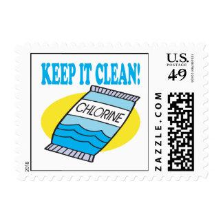 Manténgalo limpio sellos