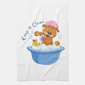 Manténgalo limpio toalla