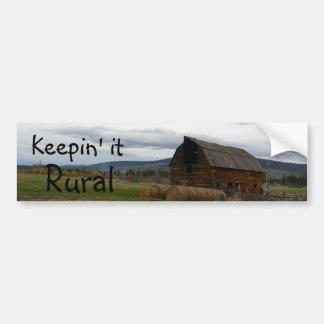 Manténgalo rural etiqueta de parachoque
