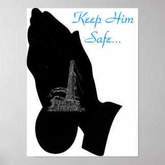 Manténgalo seguro. póster