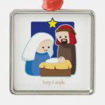 Manténgalo simple adorno de navidad