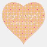 manténgalo simple colcomanias de corazon