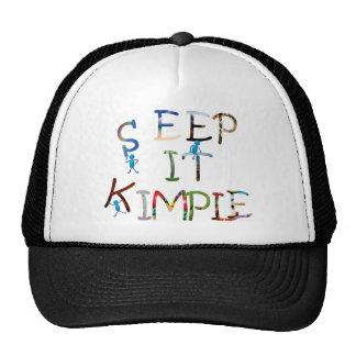Manténgalo simple - color gorras
