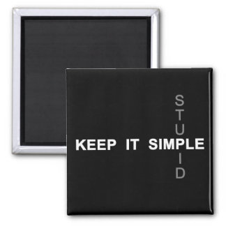 Manténgalo simple imán cuadrado