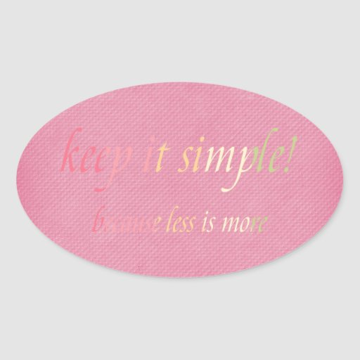manténgalo simple pegatinas de oval