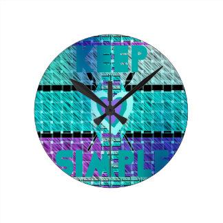 Manténgalo simple reloj redondo mediano