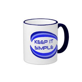 Manténgalo simple taza de dos colores