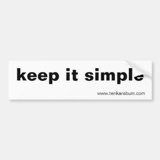 manténgalo simple, www.tenkarabum.com pegatina de parachoque