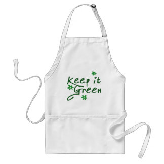Manténgalo verde delantales