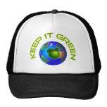 Manténgalo verde gorras