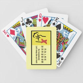 Mantengamos el aire muestra fresca, china barajas de cartas