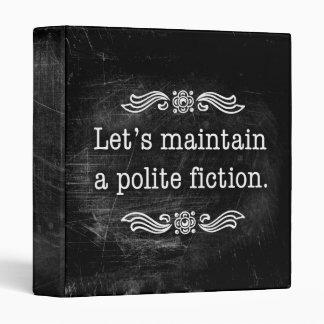 Mantengamos una carpeta educada de la ficción