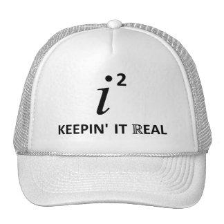 Manteniéndolo real gorras de camionero