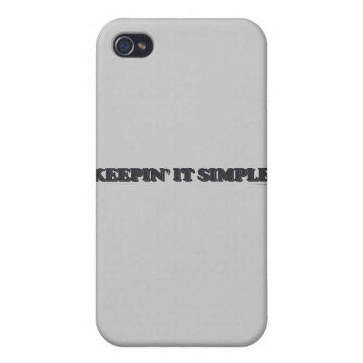 Manteniéndolo simple iPhone 4 fundas