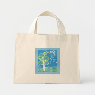 Manteniéndolo verde bolsa de tela pequeña