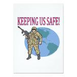Manteniéndonos seguros invitación 12,7 x 17,8 cm