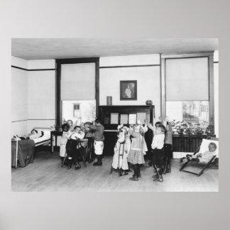Manteniéndose de tuberculosis, los años 20 póster
