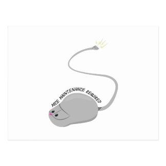 Mantenimiento de los ratones requerido tarjeta postal