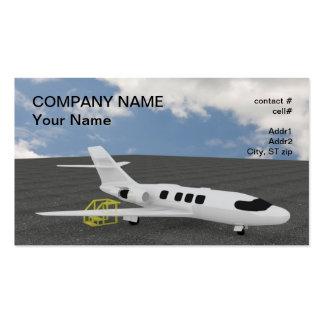 Mantenimiento ejecutivo del jet tarjetas de visita