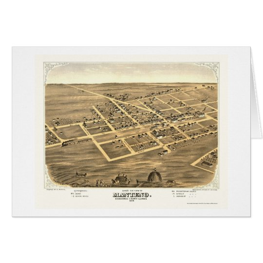 Manteno, IL Panoramic Map - 1869 Card