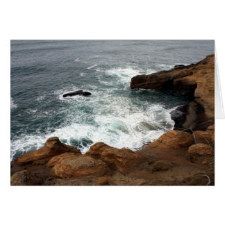 Mantequera pacífica en la costa de Oregon Tarjeta De Felicitación