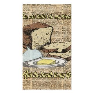 Mantequilla a mi pan. Arte del diccionario del Tarjetas De Visita