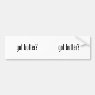 mantequilla conseguida pegatina para auto